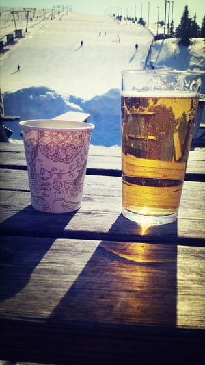 Taking Photos Beer Afterski Love skii skiing