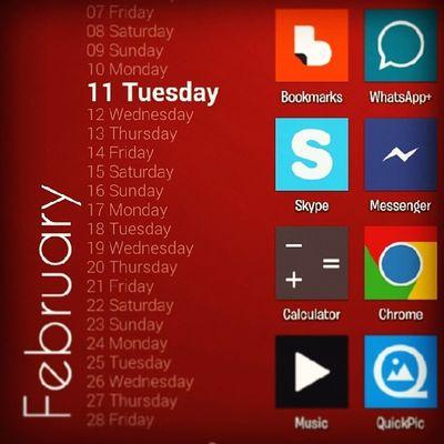 Screenshot NOVA Launcher Samsung Android Zooper Widget February Tuesday Icons Homescreen