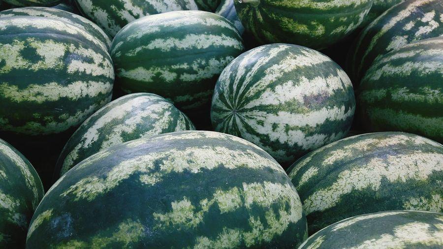 Full frame shot of watermelons