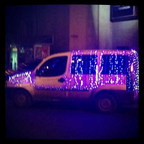 Hey, Jonny, he has it's own New Year Atmosphäre . Car Ukraine Rivne dontcare