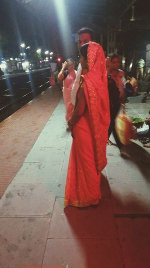 A Hindu Bride Fressed With Traditional Saree