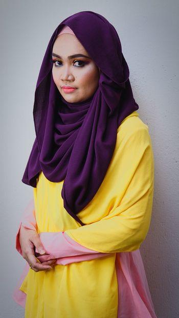 Hijab White Background Cold Temperature Portrait Beauty Shawl Fashion Muslimahfashion EyeEmNewHere Millennial Pink