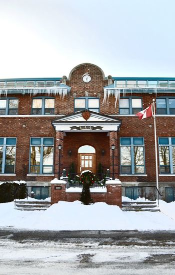 School Schooltime School School Entrance Ceremony School Time  Freezing Freezing Cold Freezing ❄ Building Exterior Building Norte-dame-des-grace NDG Notre-dame-des-grace Canada Canadian Montréal Montreal, Canada Montreal Canada Montrealcity Lcc Christmas Decoration Canadian Flag Wreath SchoolTimes