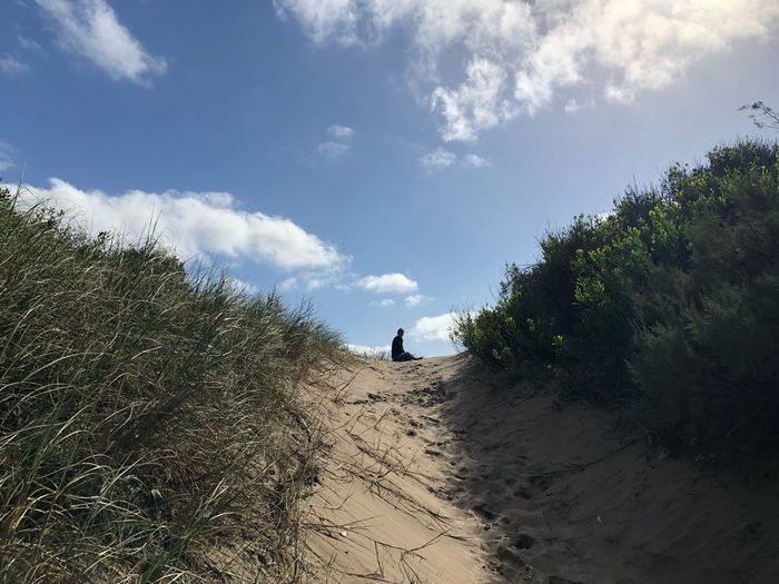 Sky Cloud - Sky Plant Land Nature Real People Tree Day Leisure Activity Sand Beach Lifestyles People Beauty In Nature Growth Outdoors Sunlight Tranquility