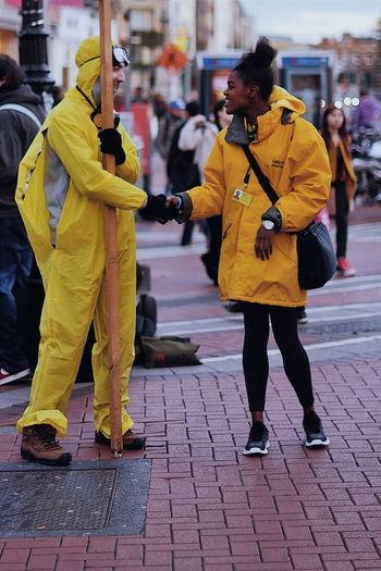 United in yellow CopyrightPiotrSzuber The Moment - 2015 EyeEm Awards The Street Photographer - 2015 EyeEm Awards The Portraitist - 2015 EyeEm Awards Kubica The Human Condition VSCO Vscocam M5
