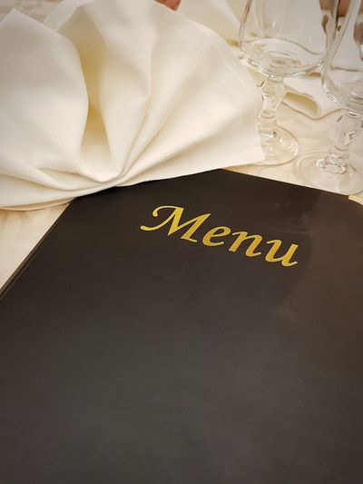 Restaurant Restaurant Menu Restaurant Black Color Text Wealth Handwriting  Studio Shot Western Script Close-up