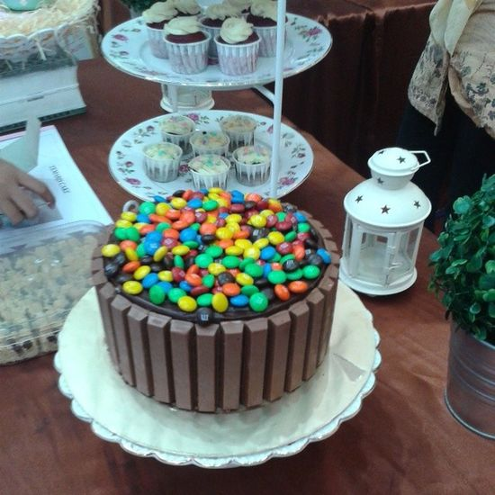 M & M cake..size 7inch. Weight apx: 2.1kg Foodfiesta2014 Ampangpark DoubleNGifts