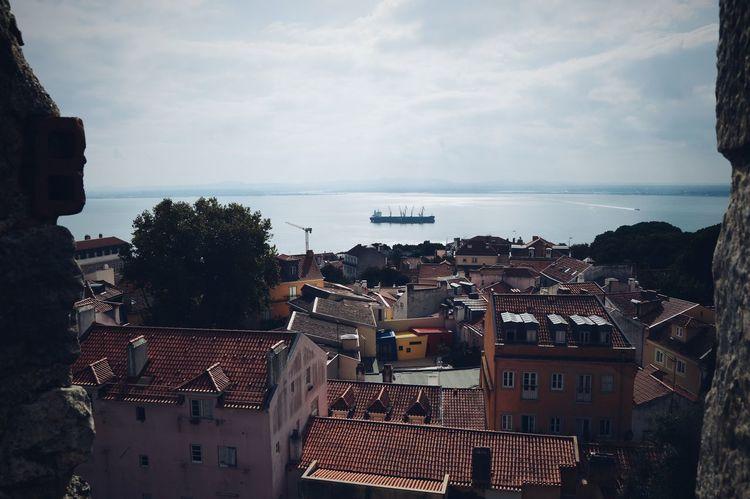 Cityscape Outdoors Sky Day Boats⛵️ Houses Castle Colours Water City Life Lisbon - Portugal Castelodesaojorge Bestviewever! Bluesky♡