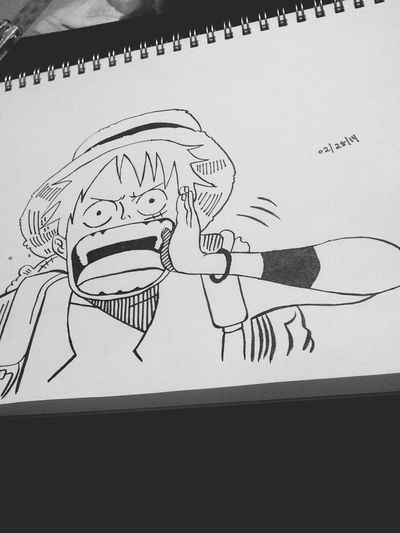 Drawing Manga Anime One Piece