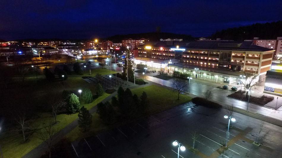 Aerial Photography City Evening Light Finland Independence Day Kaarina Sky