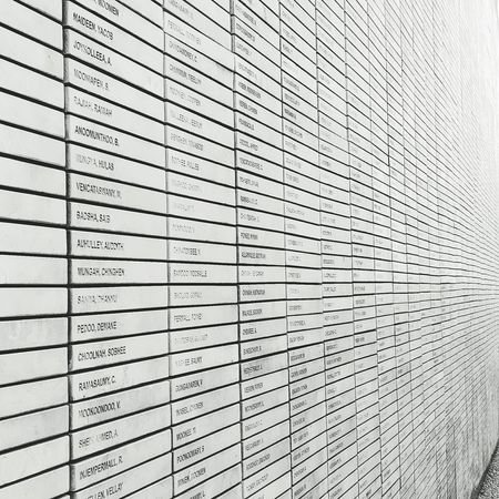 names on a wall Contrast Memorial Names On A Wall Freedom Park Stone Wall Black And White