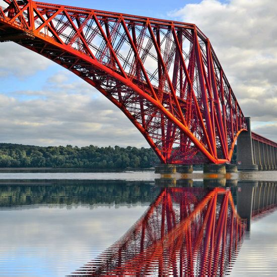 Connection Bridge - Man Made Structure Built Structure Water Architecture Engineering Sky Cloud Reflection Bridge Cloud - Sky Outdoors Day Nature Railway Bridge ForthRailBridge FirthOfForth