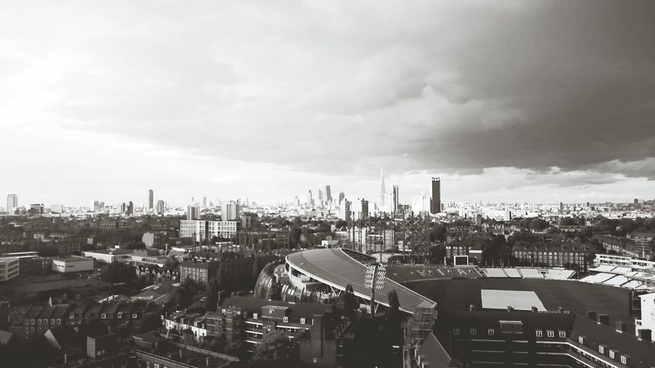 London Skyline Blackandwhite Photography Blackandwhite Summertime Rain Clouds And Sky
