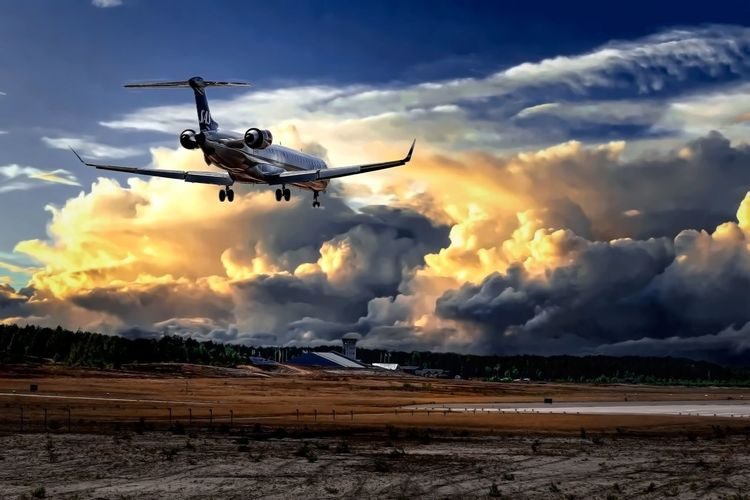 Sky Cloud - Sky Nature Mid-air Flying Air Vehicle Motion Transportation Mode Of Transportation