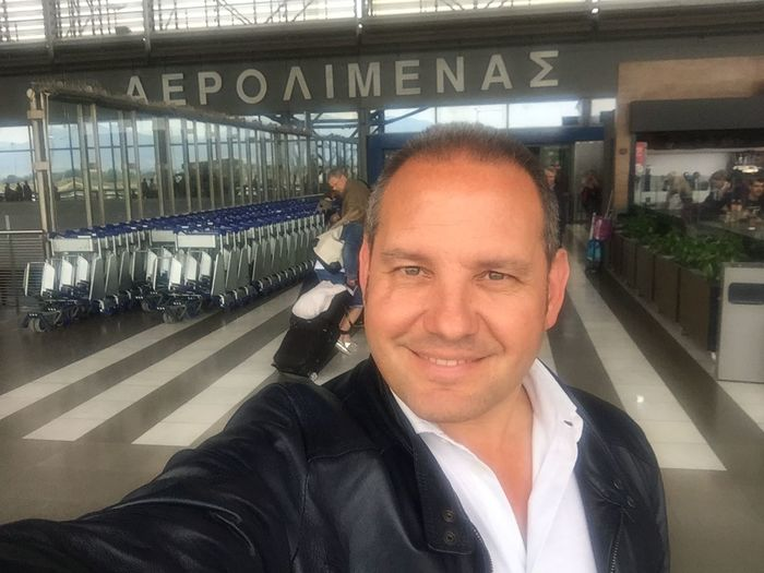 Airport Day Greece Happiness Headshot Indoors  Italian Lifestyles Looking At Camera Man One Person Portrait Real People Salonicco Smiling That's Me Transportation Young Adult