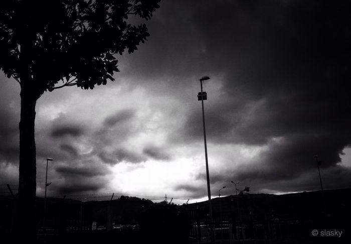 Clouds And Sky Blackandwhite I wait....