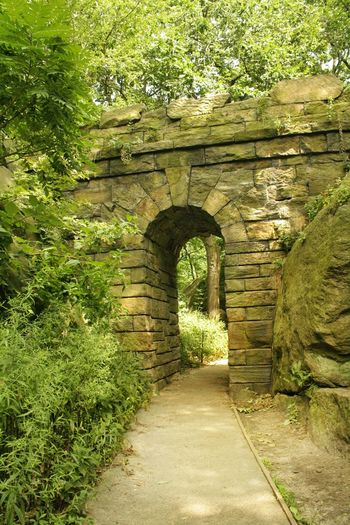 The Ramble Stone Arch, The Rambles, Central Park. July 2012. The Ramble Arch CentralPark New York City Greenery Stone Architecture Arches Summertime In The Park