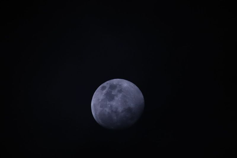 Lunar darkness EyeEm Selects Space Moon Night Sky Astronomy Beauty In Nature Planetary Moon No People Nature Tranquility Low Angle View Idyllic Geometric Shape Moon Surface Full Moon Space Exploration Majestic