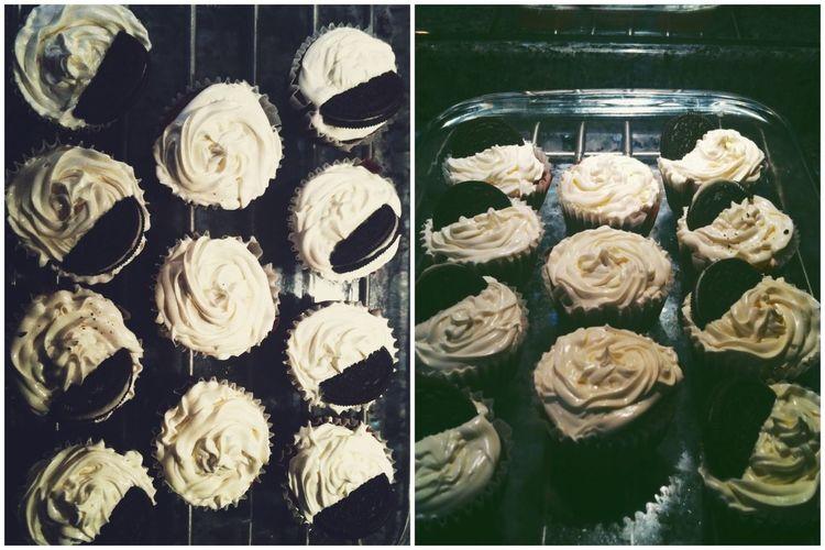 oero stuffed red velvet cupcakes!