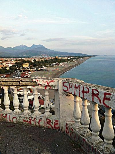 Mission Mystery Scalea Tirreno Sea View Calabria Italy Ironic View Graffiti Colour Of Life Pivotal Ideas