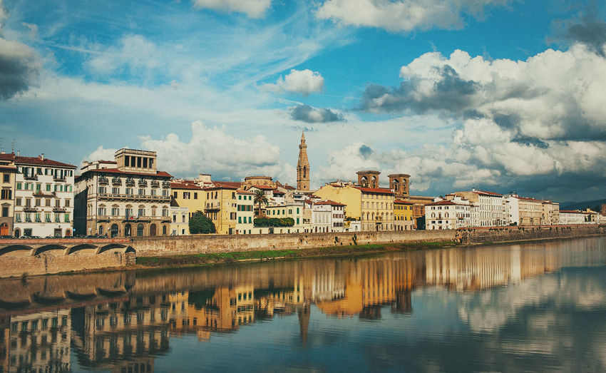 Architecture Cherch Cityscape Colors Dreams Happiness Love Old Town Riverside Romantic Summertime Travel Vacations Adventure Claoud Day Daylight Florence Landscape Old Bulding Reflections Suny Travel Destinations Traveling Photography Wallpicture First Eyeem Photo