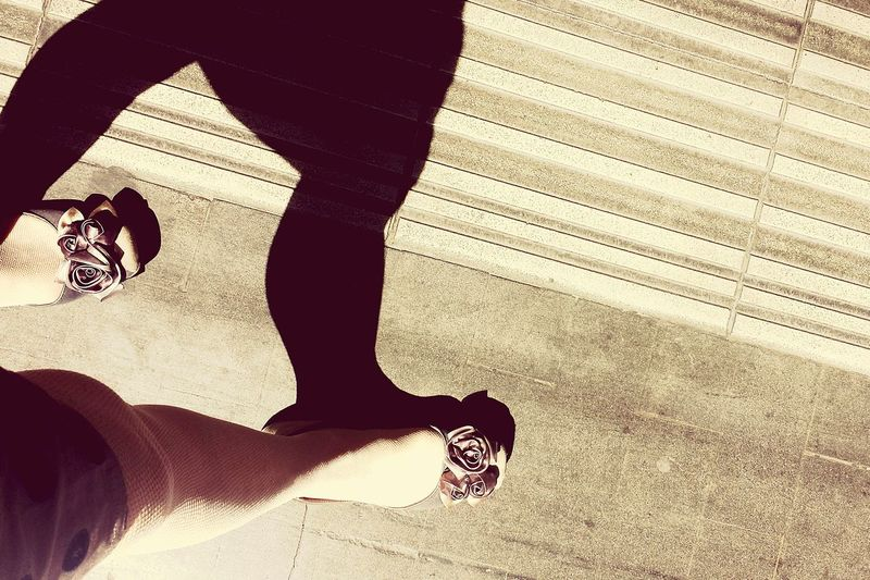 Light And Shadow Legs Shoes Station Platform Roma Termini