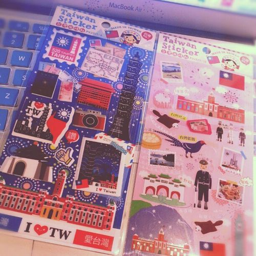 Taiwan Itaiwan Sticker Travel gift souvenir friend photooftheday webstagram instamood Taipei 101