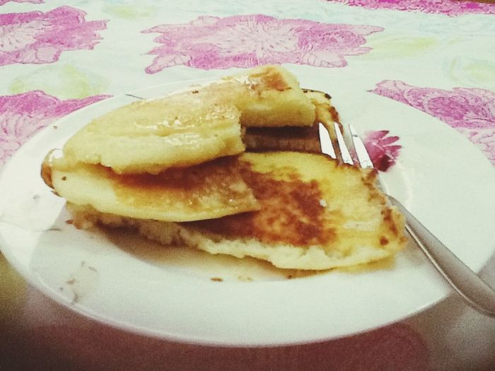 Pancakes for breakfast, 10a.m ^^ Food Pancakes First Eyeem Photo