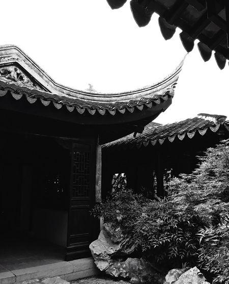 Suzhou China Accident Garden Classic Blackandwhite Silent Moment Roof Black & White Black And White Photography Black And White