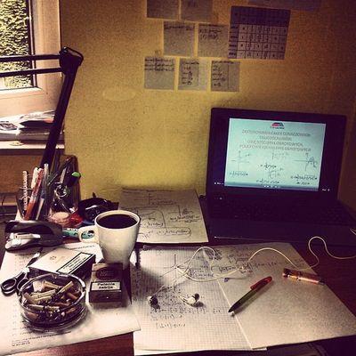 Work Hard Study Hard ile kurwa mozna liczymy caleczki kawusia i lucky strike open window etrapez krytian!