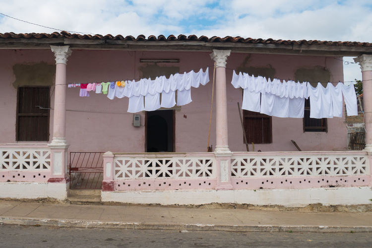 Cuba Pinar Del Rio Architecture Building Exterior Built Structure Carribean Clothesline Day Drying Hanging No People Outdoors Sky