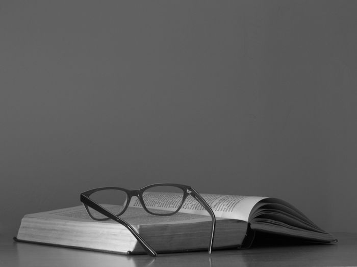 book Eyemphotography Eyem Best Shots Booklover Blackandwhite Bnw Monochrome Eyeglasses  Education Paper Close-up EyeEmNewHere The Still Life Photographer - 2018 EyeEm Awards Reading Glasses Knowledge Page Hardcover Book The Creative - 2018 EyeEm Awards My Best Photo