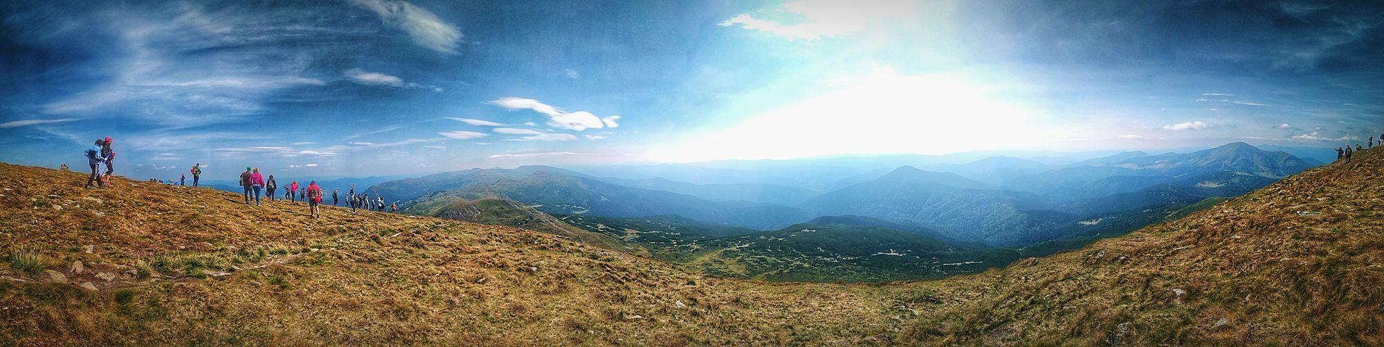 Carpathian Mountains, Summer Day, Ukraine 💙💛, Phone Photo, Panorama, 2017