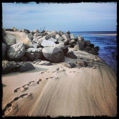 Instagram Instamood Instagood Ilovetotakephotos Dayshots DailyShot Insearchofsunset Instagramhub Intstapeace Footprints Jetty Instanature Sand Beach Beaches Longislandinstagram Photooftheday