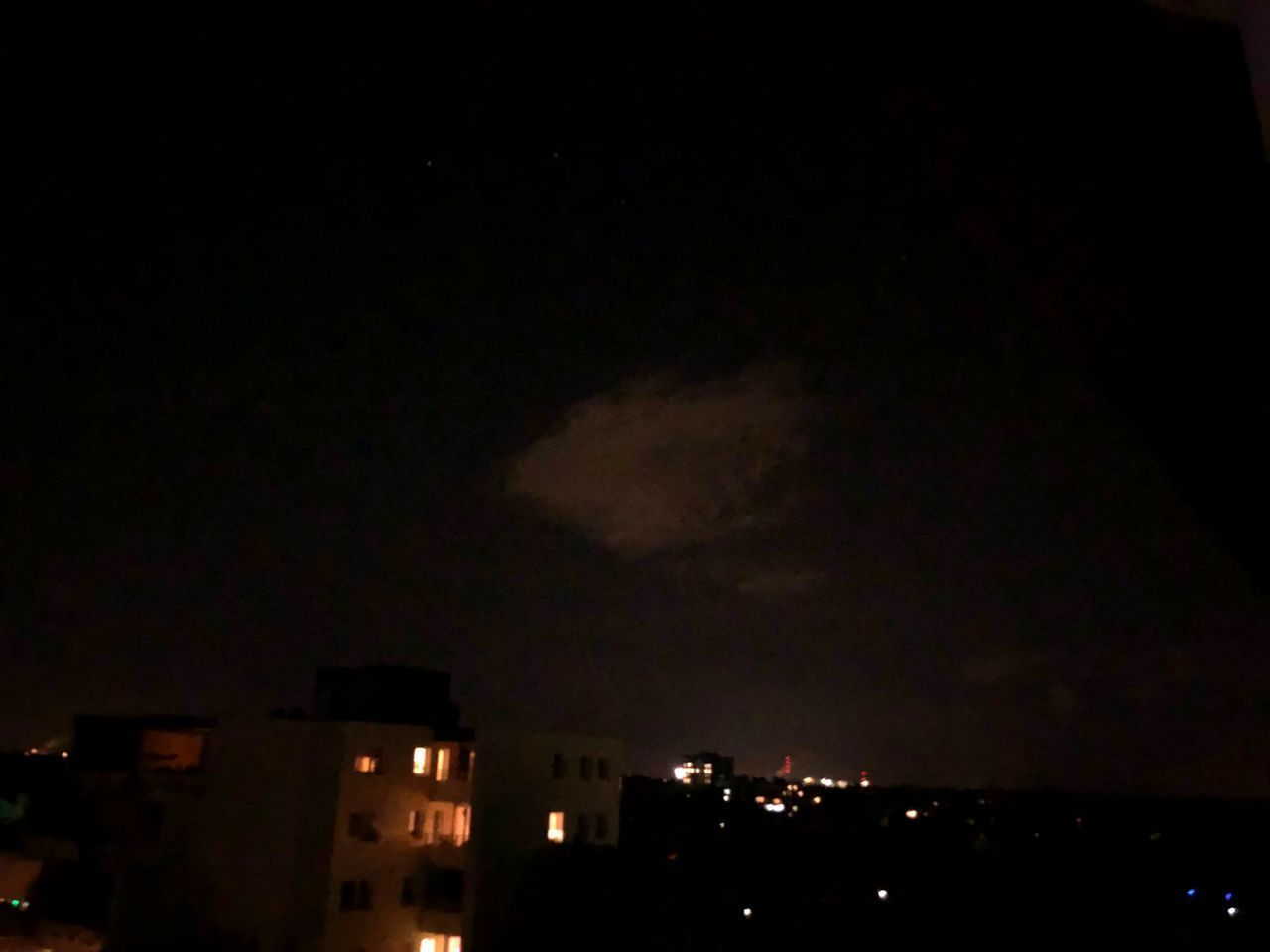 night, sky, architecture, illuminated, built structure, building exterior, city, cloud - sky, building, no people, nature, copy space, silhouette, dark, residential district, outdoors, cityscape, beauty in nature, house, power in nature