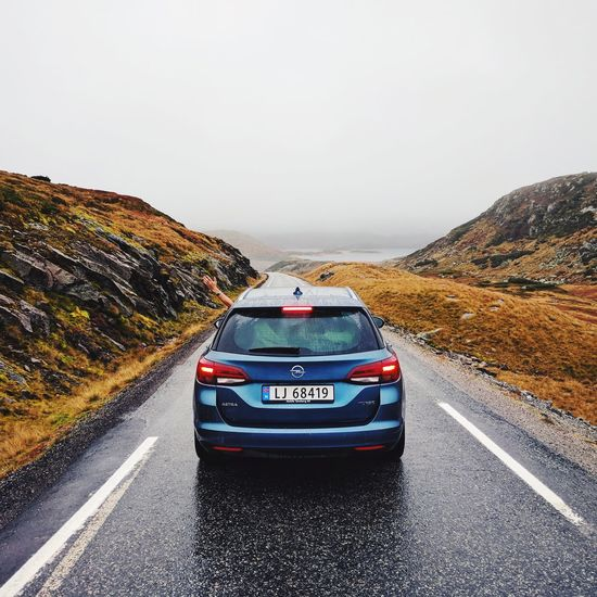 Car Road Transportation Adventure Road Trip Outdoors Day Landscape Sky No People Nature Opel Opel Astra Astra Bluecar Norway Norge Mountain Road Trip Hollidays