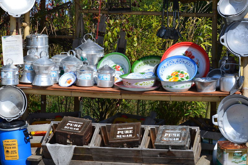 Bits And Bobs Bowls Colourful Everyday Things Market Market Stall Metal Pans Open Air Outside Pots And Pans Selling Sunshine