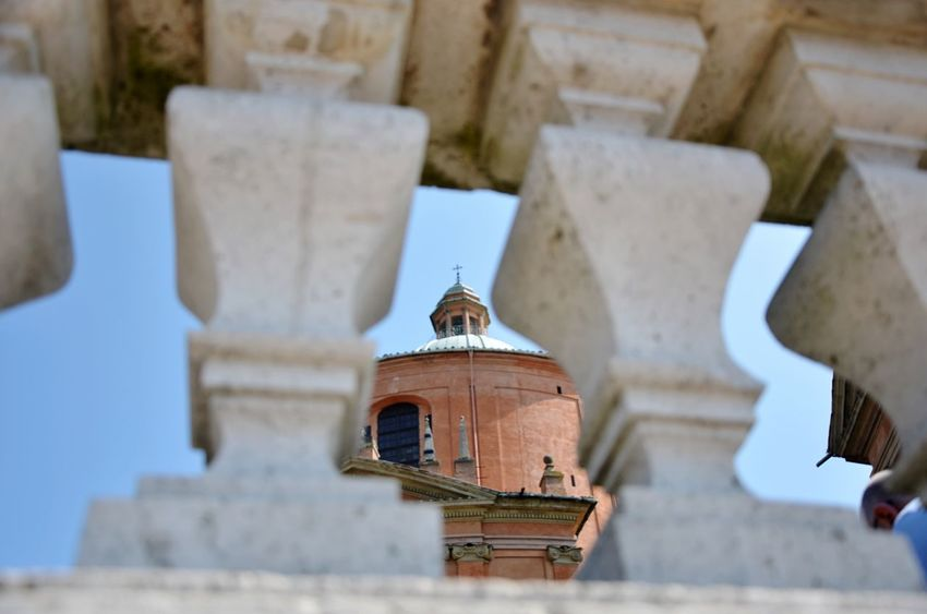 No title. Architecture Built Structure Religion Church Travel Destinations History Bell Tower Bell Famous Place Tourism Outdoors Focus On Foreground Arch San Luca Bologna Eye4photography  EyeEm Best Shots Sky Architecture_collection EyeEm Gallery EyeEm Best Shots - Architecture