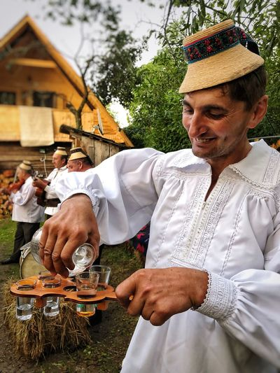 Traditional Man Romanian  Romania Men Real People Playing Adult Musical Instrument Holding Leisure Activity Music Day Clothing Musical Equipment Lifestyles People Traditional Clothing
