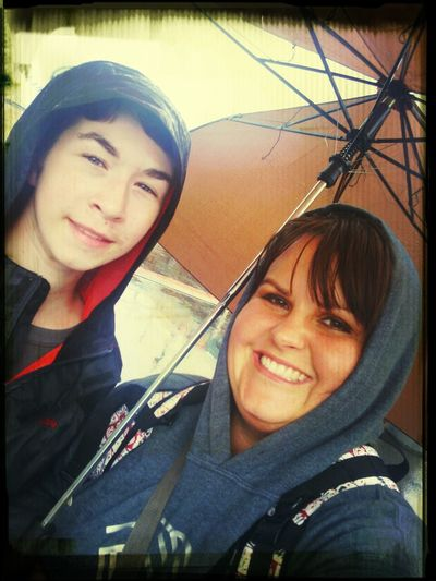 fun day in the rain with my favorite teen. last field trip of summer camp :)