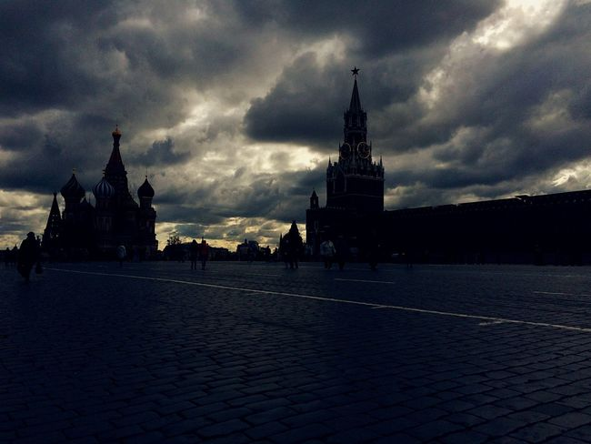 Red Square Architecture Built Structure Place Of Worship Building Exterior Religion Spirituality Sky Cloud - Sky Outdoors Travel Destinations Dome Water No People Nature Day Cultures Dramatic Sky