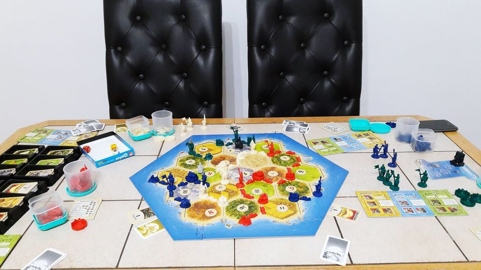 Indoors  No People Day Multi Colored Large Group Of Objects Catan Playing Playing Games Board Game Table Indoors