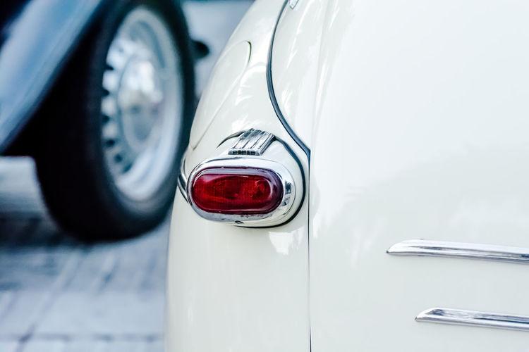 Close-Up Of Collectors Car Trunk