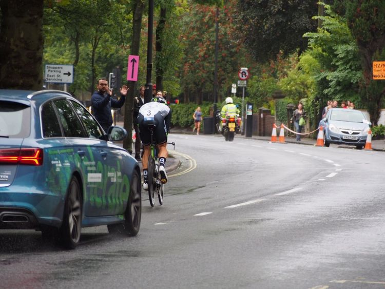 Bristol Tob2016 Time Trialling Cycling Sports Speed Tour Of Britain Time Trial Motion
