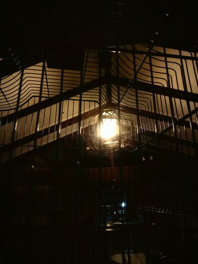 Empty Cage Cobwebs Lights One Point Perspective Nightphotography Paint The Town Yellow The Week On EyeEm