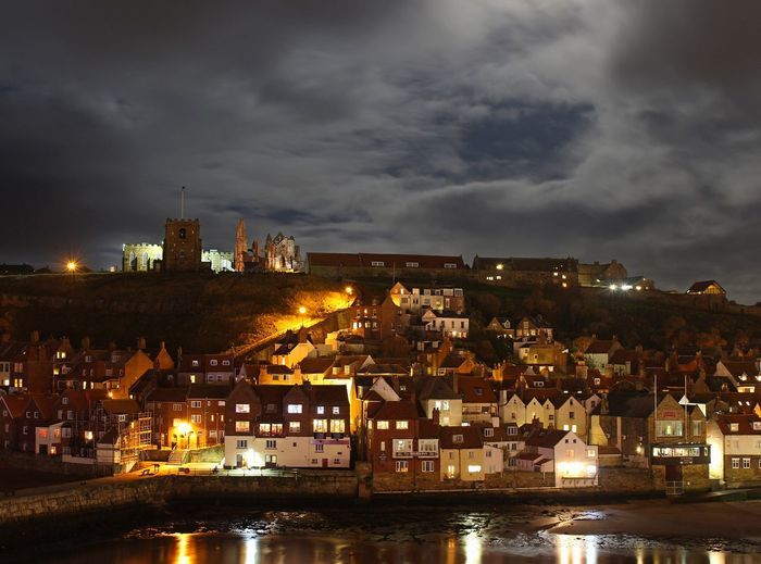 Whitby Whitby Harbour Architecture Building Exterior Built Structure City Cityscape Cloud - Sky Illuminated Nature Nautical Vessel Night No People Outdoors Residential Building River Sky Travel Destinations Urban Skyline Water Waterfront Whitby View