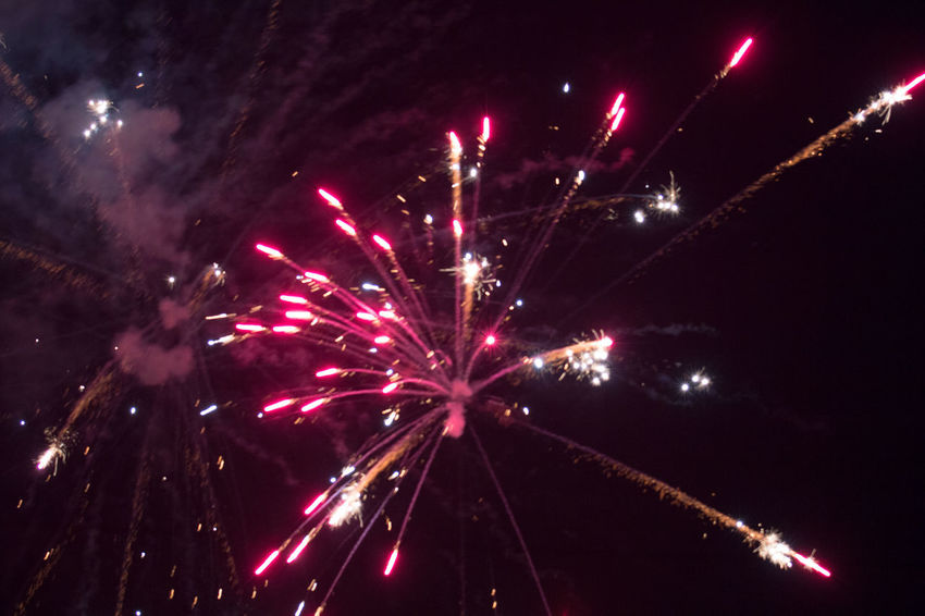 Fireworks Illuminated Arts Culture And Entertainment Firework Display Celebration Firework - Man Made Object Multi Colored Event Exploding Sky Entertainment Smoke - Physical Structure Emitting Sparks Explosive Firework Traditional Festival Sparkler