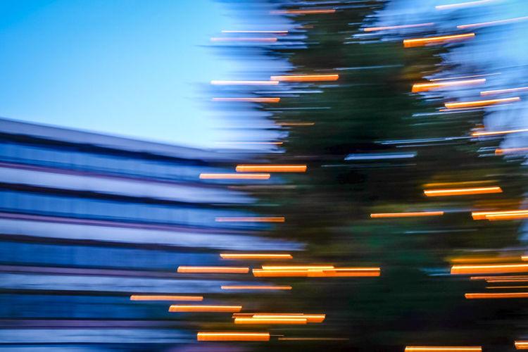 Allen meinen Freunden ein schönes Weihnachtsfest Weihnachten Blue Sky Light And Shadow Christmas Tree Christmas Lights Fujifilm X-E2