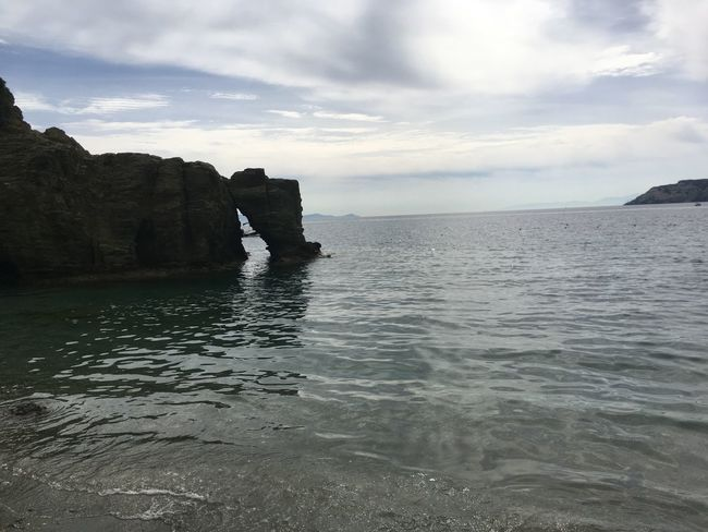 Beauty In Nature Cliff Day Horizon Over Water Idyllic Nature No People Outdoors Rock - Object Rock Formation Scenics Sea Sky Tranquil Scene Tranquility Water Waterfront