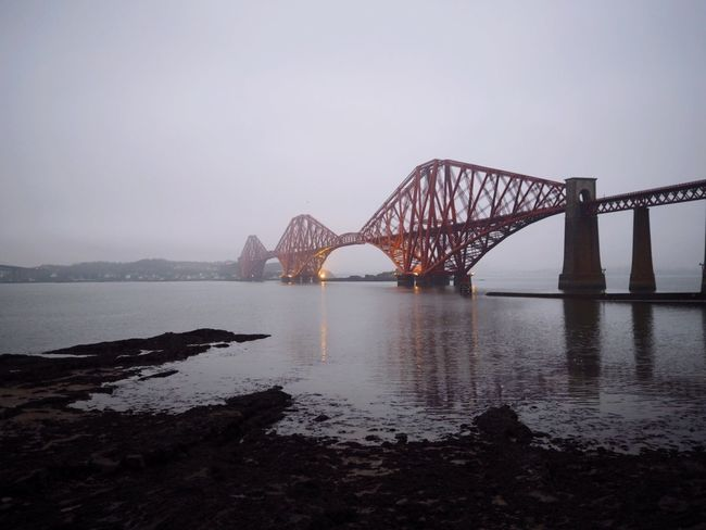 Bridge - Man Made Structure Water Architecture Connection Built Structure River Engineering Transportation Sky Nature No People Outdoors Modern Railway Bridge Day ForthRailBridge Edinburgh FirthOfForth
